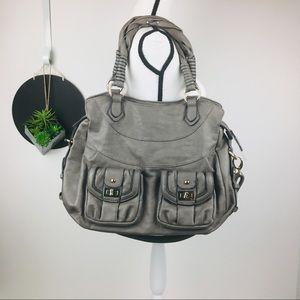 Large Convertible Shoulder Bag Luxe Vegan Leather